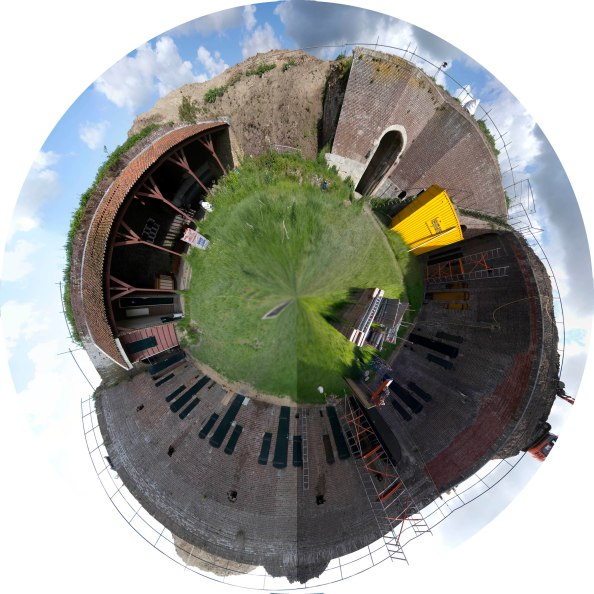 Adobe Panorama fed to Hugin Fisheye projection
